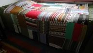 plaid gemaakt van de oude truien van mijn moeder